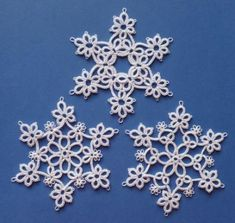 1000+ images about Tatting : Snowflakes