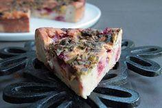 Pudding fruité Pêche, framboise et pistache {fruits d'été }