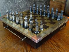 Steampunk Tendencies | Handmade Steampunk Chess Set