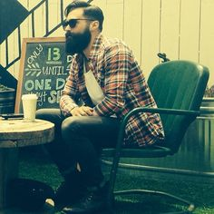 Luke Ditella looking like a dream - full thick black beard and mustache beards bearded man men mens' style hairstyle hair cut barber #goodhair #beardsforever
