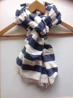 CHARCOAL SCARF- Gray/Grey & white Nautical Striped Cotton Wool Scarf- Men's women Hand-woven Unisex Ethiopian scarf- Dark Gray Winter stole by Bellabisinia on Etsy https://www.etsy.com/listing/165961817/charcoal-scarf-graygrey-white-nautical