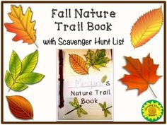 Free! Fall Nature Trail Book and Scavenger Hunt- print- friendly!