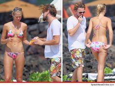 Leonardo Dicaprio & Erin Heatherton in Hawaii