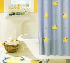 for my rubber ducky bathroom. love the clawfoot tub too!