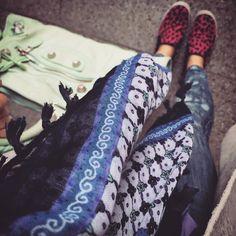 #ootd #daily #dailylook #데일리 #데일리룩 #flower #스카프 #scarf #siwy #denim #데님 #balenciaga #발렌시아가 #bag #백스타그램 #jefferycambell #follow #me #shoe #leopard #레오파드 #옷스타그램 #style #follow #me #팔로우 #gangnam #style #fashion #강남 #스타일 #패션