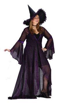 Ladies Adult Plus Sized Black/Pink Witch Costume $27.27 Ladies ...