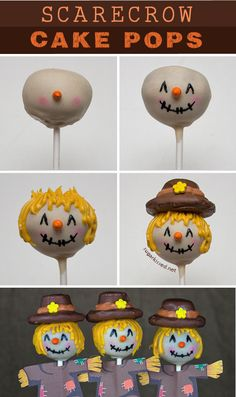 These scarecrow cake pops are so adorable with their rosy cheeks! Learn step-by-step how to make them for your Thanksgiving dessert table.