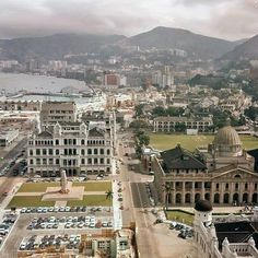 1963 view of HK : Legco ,cenotaph and Hong Kong Club