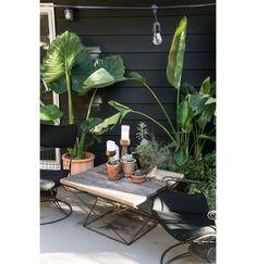 Terrasse guinguette : déco festive pour l'été - Vids Tutorial and Ideas Back Patio, Backyard Patio, Backyard Landscaping, Diy Patio, Patio Table, Pergola Patio, Patio Trellis, Backyard Planters, Patio Grill
