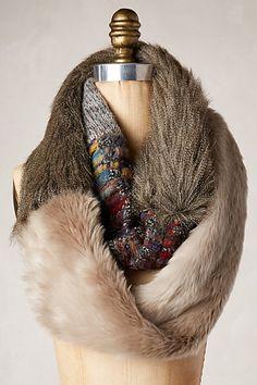 Miru Faux-Fur Scarf #anthropologie diy idea