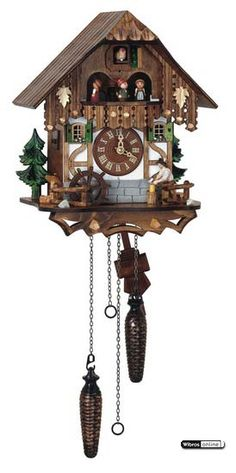 Cuckoo Clock Quartz-movement Chalet-Style 33cm by Anton Schneider - Q6563/9