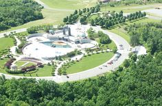 The D Day Memorial in Bedford, Virginia from the air.