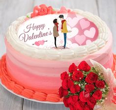 Order Valentine cake with flower and send to your loved one. YummyCake specially designed this combo pack for valentine gift. We offer eggless cakes. Valentines Day Cakes, Valentine Day Special, Valentine Gifts, Cake Online, Online Gifts, Gift Cake, Special Gifts, Wedding Cakes, Birthday Cake