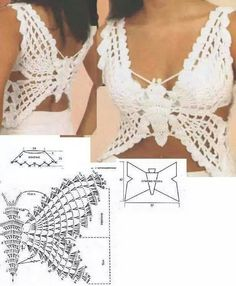 "Crochet Pattern only with written instruction For Top ""Butterfly""cover up in PDF…"