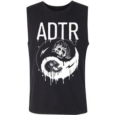 A Day To Remember   Yin Yang Sleeveless Tee (Black) ($15) ❤ liked on Polyvore featuring tops, sleeveless t shirt, sleeveless tshirt and yin yang top