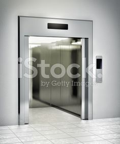 Modern elevator with opened door royalty-free stock photo