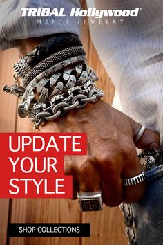 You'll find the coolest men's jewelry at Tribal Hollywood. We sell online the most unique selection of celebrity style men's necklaces, bracelets, and rings including biker, motorcycle, rocker, red carpet, and night club styles for men.