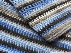 "From jenniferslittleworld.com ""My Sky Blanket in January - crocheting a row each day to represent the colour of the sky #skyblanket2016""  A cool variation on the temperature blanket!"