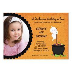 Ghost Halloween Birthday Card