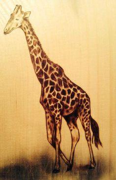 giraffe wood burning