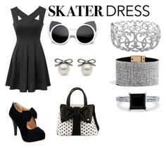 """""""Cutout Skater Dress Entry"""" by thejurassicpanda ❤ liked on Polyvore"""