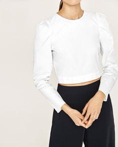 ZARA - COLLECTION SS/17 - CROPPED POPLIN TOP