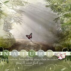 "Happy Scrap Arts: Nature. Available at digiscrap.nl March 2017 Gallery Standout at ""just Art&Scrapbooking"""