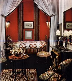 I really love this #red room ~ Madeleine Castaing