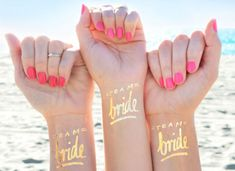 Bachelorette Party Tattoo, Team Bride Tattoo © Set of Bachelorette Tattoos, Gold Bachelorette Temporary Tattoos, Gold Bridal Party Favor - Bachelorette Party Tattoo! This Team Bride Tattoo © Set of 12 Bachelorette Tattoos make the perfec - Team Bride Tattoo, Bride Tribe Tattoo, Beach Bachelorette, Bachelorette Party Favors, Unique Bachelorette Party Ideas, Beach Party Favors, Bachelorette Party Decorations, Party Favours, Party Tattoos