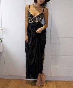 diy fashion: Sheer Black Maxi Skirt