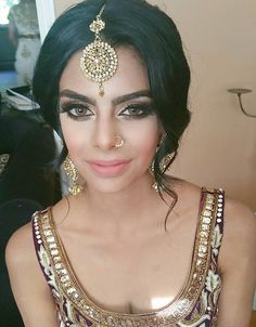 Super Wedding Makeup Indian Nose Rings Ideas - Wedding Makeup How Indian Wedding Makeup, Wedding Makeup For Brown Eyes, Indian Makeup, Bridal Makeup, Indian Bridal Hair, Punjabi Hairstyles, Indian Wedding Hairstyles, Prom Hairstyles, Glam Makeup