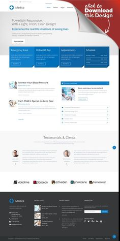 iMedica - Responsive Medical & Health WP Theme beauty, blog, clean, corporate, dentist, doctor, health, hospital, insurance, medical, pharmacy, service, surgeon, visual composer, wellness iMedica is probably the most comprehensive & feature rich WordPress theme that's made for medical organizations. Responsive code, retina ready graphics, lightweight framework and very flexible structure makes it outstanding. Core Features Friendly Admin Pa...