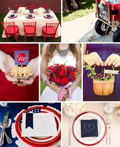Red White & Blue Wedding Inspiration- @Nichole Smith yes please!!!