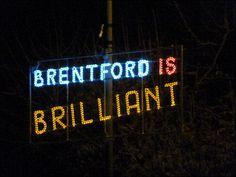 Brentford is Brilliant Brentford, Neon Signs, Random, Beautiful, Casual, Brentford F.c.
