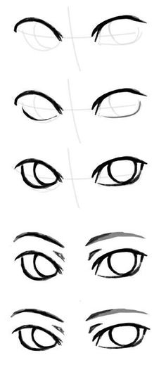 Picture of the rysowanie ludzi painting by Klaudia Wojcieska Face Drawing Eyes Drawing Tutorial Drawing Skills, Drawing Techniques, Drawing Tips, Drawing Sketches, Cool Drawings, Eye Sketch, Drawing Ideas, Sketching, Anime Drawing Tutorials