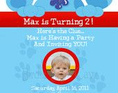 Custom Printable Blues Clues Birthday Photo Invitation