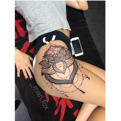 Hip Thigh Tattoos, Hip Tattoos Women, Body Art Tattoos, Girl Tattoos, Lotus Tattoo, Mandala Tattoo, I Tattoo, Infinity Tattoos, Piercing Tattoo