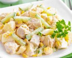 Salade détox de poulet au céleri, maïs et yaourt : http://www.fourchette-et-bikini.fr/recettes/recettes-minceur/salade-detox-de-poulet-au-celeri-mais-et-yaourt.html