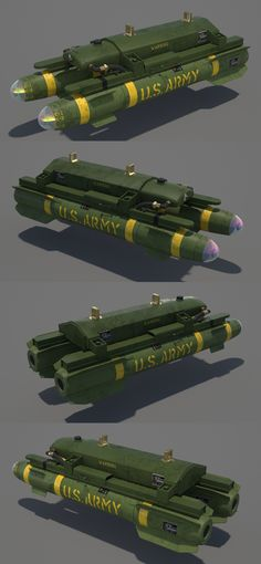 """3D model """"AGM-114 Hellfire Missile"""" Air To Ground Missile #3Dmodel #3Dartist #Missile #Weapons #Collection #3Dsmax #Vray #Frigatez"""