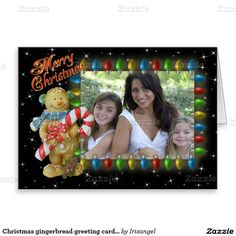 Christmas gingerbread greeting card for photo