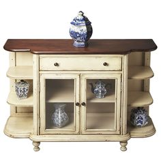 Shabby Chic Display Console in Cream with a Cherry top. <3 this!