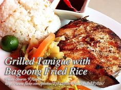 On cooking this grilled fish steak, you can use tanigue (Spanish Mackerel) or swordfish steak. On this recipe, it is served with bagoong alamang or shrimp paste Swordfish Steak, My Favorite Food, Favorite Recipes, Spanish Mackerel, Shrimp Paste, Grilled Fish, Filipino Recipes, Fish And Seafood, Fish Recipes