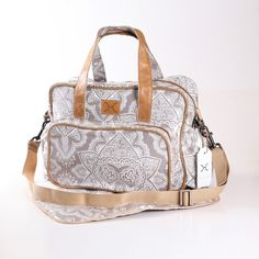 Persian Nappy Bag with bottle holders and inside storage pouches