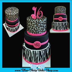 This is one of my favorites on myshopify.com: Animal Print Sweet 16 Birthday Cake