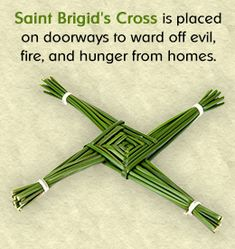 Like shamrock and harp, the Saint Brigid's cross has become a symbol of Ireland. Saint Brigid's cross symbolism - Pinned by The Mystic's Emporium on Etsy St Brigid Cross, Brigid's Cross, Irish Blessing, Irish Celtic, Irish Eyes, Luck Of The Irish, Groundhog Day, Book Of Shadows, Magick