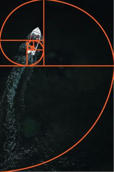 An aerial photo of a boat at sea with the golden ratio grid overlayed - golden ratio vs rule of thirds Rule Of Thirds Photography, Photography Rules, Photography Lessons, Still Life Photography, Nature Photography, Rules Of Composition, Photo Composition, Photography Composition, Geometric Nature