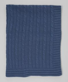 This 30'' x 40'' Navy Cable-Knit Receiving Blanket is perfect! #zulilyfinds