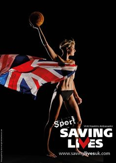 Vicki Hawkins: For Sport Saving Lives campaign  Www.savinglivesuk.com  Twitter @savinglivesuk Image by Simon Wright