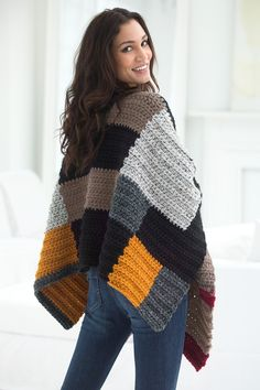 Warm and Wonderful Fall Ponchos to Crochet – 27 free patterns from Lion Brand Yarn – Grandmother's Pattern Book
