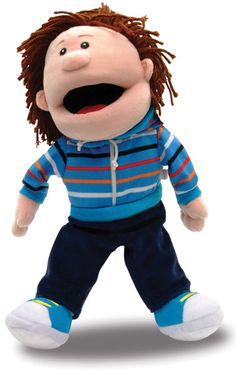 Adorably cute #handpuppet- boy!! Great for pretend play and role playing!!